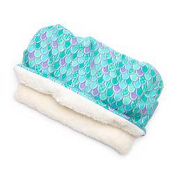 Mermaid Scales Printed Fleece Fabric Pocket Pet Bed