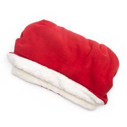Red Solid Fleece Fabric Pocket Pet Bed