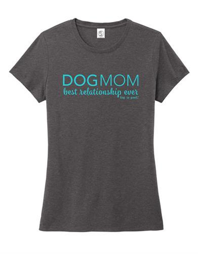 T-shirt: Dog Mom (Heather Charcoal)