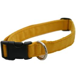 Hemp  Corduroy Collar, Leashes, and Harnesses MARIGOLD