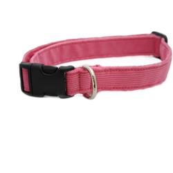 Hemp Corduroy Collar, Leashes, Harnesses PINK