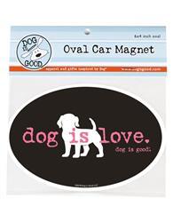 Car Magnet: Dog is Love