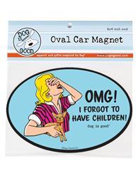 Car Magnet: OMG! I forgot to have children