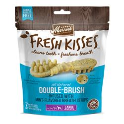 Merrick Fresh Kisses Mint Breath Strips Dental Chews Bags 11.7oz