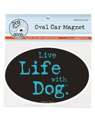 Car Magnet: Love Life with Dog g