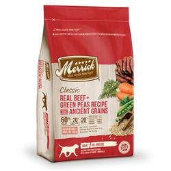 Merrick Classic Real Beef and Green Peas Recipe with Ancient Grains
