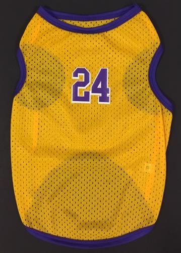 #24 Basketball Jersey Yellow