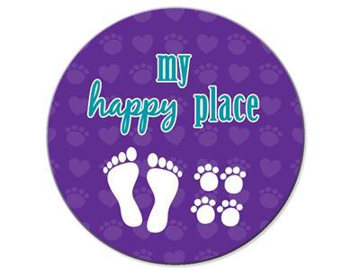 My Happy Place - Car Coaster
