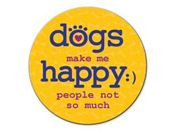 Dogs Make Me Happy - Car Coaster