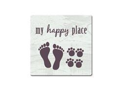 My Happy Place - Single Square Coaster 6 pk