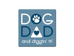 Dog Dad - Single Square Coaster 6 pk