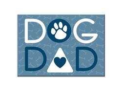"Dog Dad -  3.5"" x 2.5"" Magnets"