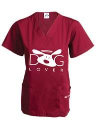 Scrub Top: Dog Lover