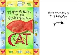 Purr-fect Greetings - Happy Birthday