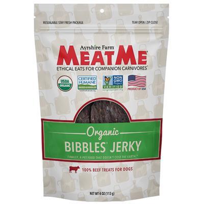 Organic Bibbles — Beef Jerky, 4 oz. Bag