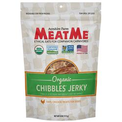 Organic Chibbles — Chicken Jerky, 4 oz. Bag