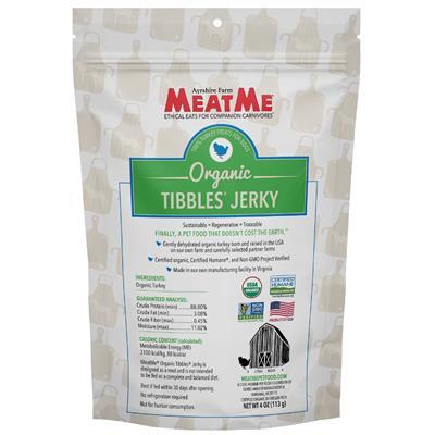 Organic Tibbles — Turkey Jerky, 4 oz. Bag