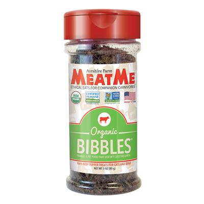 Organic Bibbles — Ground Beef Toppers for Cats & Dogs, 3 oz. Jar
