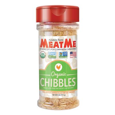 Organic Chibbles — Ground Chicken Toppers for Cats & Dogs, 4 oz. Jar