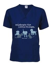 Scrub Top: Celebrate the Little Things