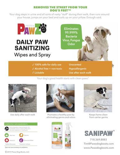 PawZ SaniPaw - Wipes 60 ct.
