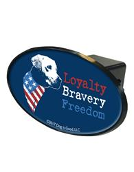 Trailer Hitch Cover: Freedom Dog