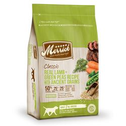 Merrick Classic Real Lamb and Green Peas Recipe with Ancient Grains