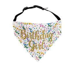Birthday Dog Bandana | Birthday Girl - Over the Collar Style in 5 Sizes |  BUY 10 GET 1 FREE