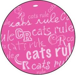 Beach Ball Catnip Toy - Pink / White