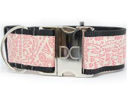 Love Notes Extra Wide Dog Collar