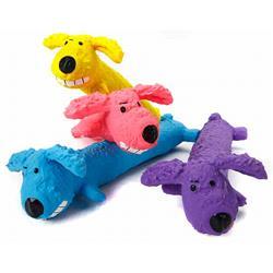 """Loofa Latex Dog Toys 6"""", Assorted"""