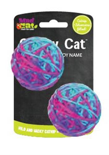Crafty Cat by Mad Cat SOFT YARN BALL TWIN PACK CAT TOY with Catnip & Silvervine -  4 Pack $18.56 ($4.64 EA)