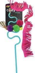 Crafty Cat by Mad Cat FRISKY FRINGE WAND CAT TOY with blend of Catnip & Silvervine  4 Pack $22.68 ($5.67 EA)