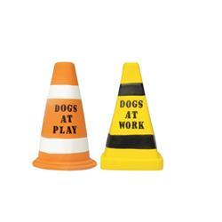 "Barking Lot Latex Warning Cones Dog Toys 7"", Assorted"