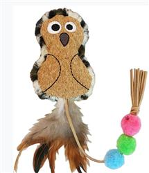 Crafty Cat by Mad Cat POUNCE POM OWL CAT TOY contains Catnip & Silvervine -  4 Pack $12.36 ($3.09 EA)