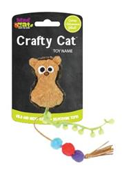 Crafty Cat by Mad Cat PLAYFUL POM HEDGEHOG CAT TOY w/ Catnip & Silvervine -  4 Pack $12.36 ($3.09 EA)