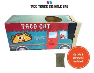 Mad Cat TACO TRUCK CRINKLE BAG CAT TOY!!!!!!!! 4 Pack $26.80 ($6.70 EA)