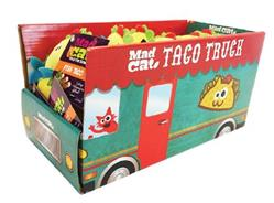 MAD CAT NEW TACO TRUCK 36 PIECE COUNTER DISPLAY WITH CAT TOYS ($1.46 EA TOY)