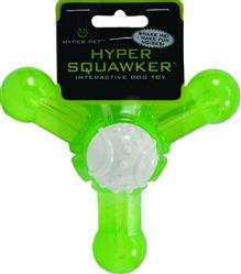 """Hyper Pet™ HYPER SQUAWKERS 5"""" JACK DOG BONE 3 PACK $16.20 ($5.40 EA) BALL & BONE ALSO AVAILABLE"""