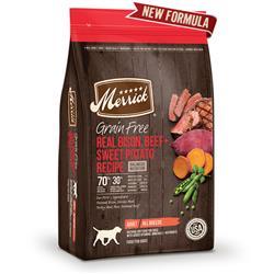 Merrick Grain Free Real Bison Beef and Sweet Potato Recipe