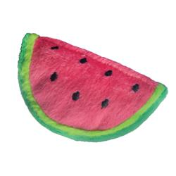 "3.5"" Watermelon Plush Cat Toy by Kittybelles"