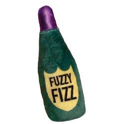 "4"" Fuzzy Fizz Plush Booze Cat Toy by Kittybelles"