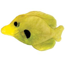 """3.5"""" Yellow Tang Plush Fish Cat Toy by Kittybelles"""