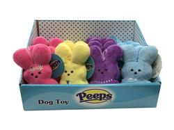 Peeps Plush Dressed Up Bunnies, 18 Piece PDQ Display