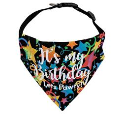 Birthday Dog Bandana |Let's Pawty!- Over the Collar Style in 5 Sizes |  BUY 10 GET 1 FREE