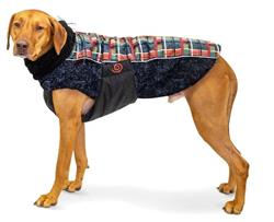 ULTRA PAWS WEATHERMASTER COAT, FOREST PLAID, HIGHLY REFLECTIVE (8 SIZES)