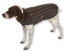 ULTRA PAWS COMFORT COAT BROWN PLAID WITH ULTRA REFLECTIVE FABRIC (10 SIZES/ 2 GREAT COLORS)