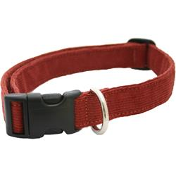 Hemp Dog Collar RED CORDUROY Hemp Dog Leash