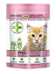 IMMUNITY SUPPORT for Cats with CBD, Taurine & L-Lysine (30 chews/bag)