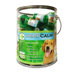 HEMPCALM Pail with 60 High Potency HempCalm 2 count vials.